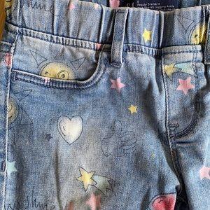 Gap girls emoji jeans jeggins